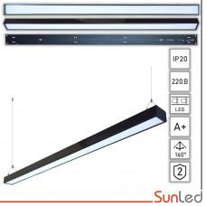 Подвесной линейный светодиодный светильник на тросах 36Вт SUNLED