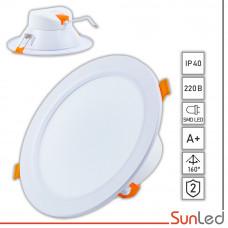 Встраиваемый точечный LED светильник 16Вт