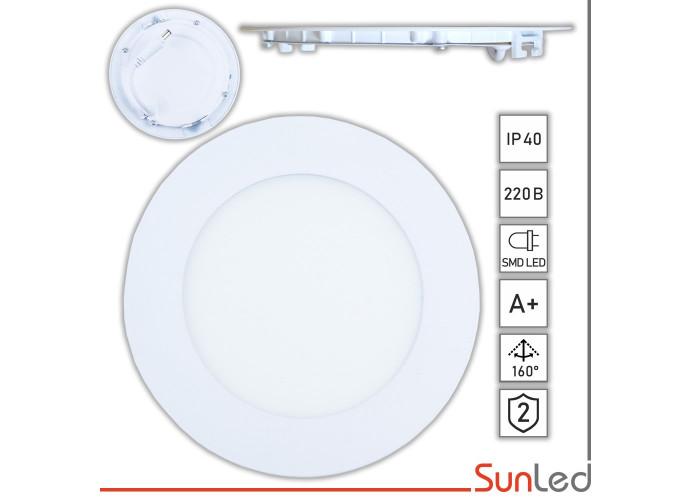 Врезной LED светильник 6Вт