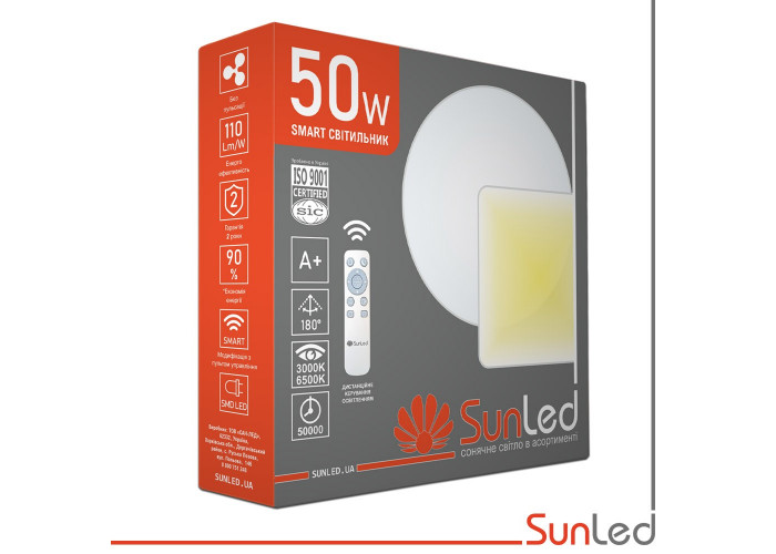Светодиодный светильник на потолок 50Вт Звездное небо SUNLED