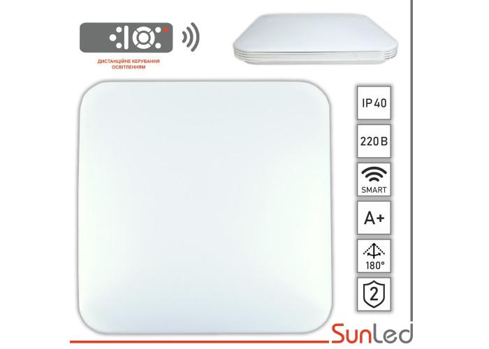 Светильник потолочный декоративный матовый квадрат с серебром Smart 100Вт