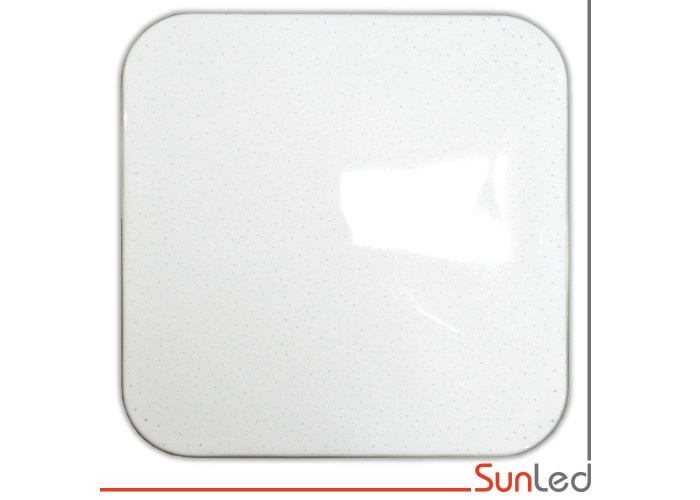 Потолочный светильник для дома и офиса 90w Smart квадрат с серебром SUNLED