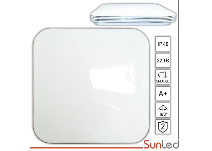 Светильник для дома потолочный 24w Квадрат с серебром SUNLED